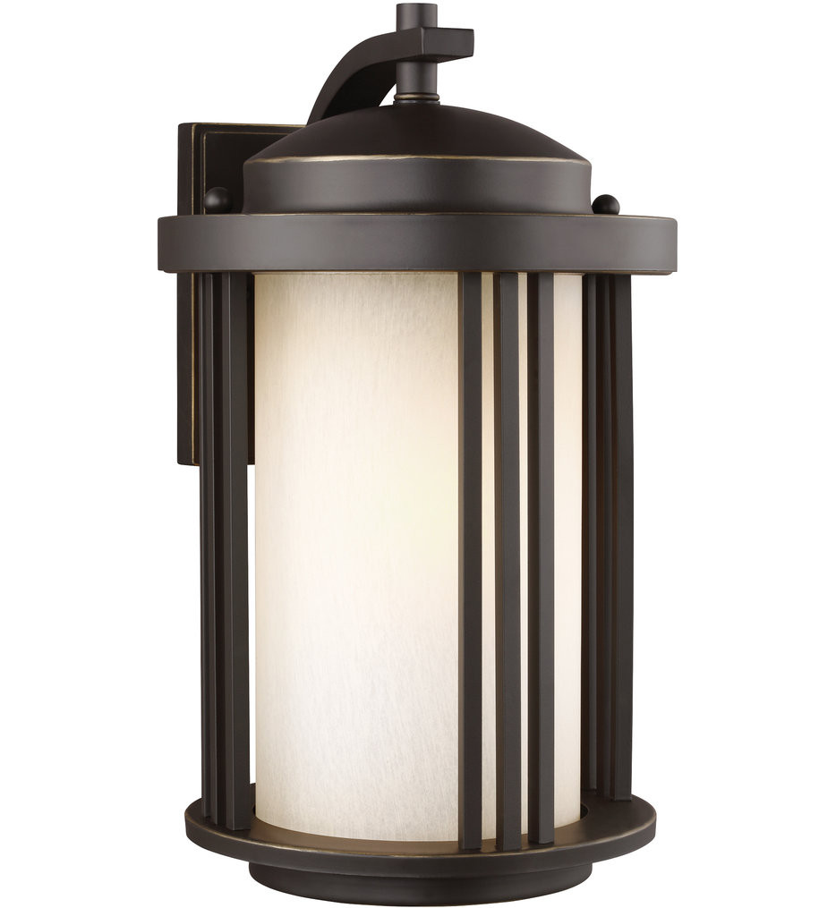 Sea Gull Lighting - 8747901EN3-71 - Crowell Antique Bronze 14.88 Inch 1 Light LED Energy Star Outdoor Wall Lantern