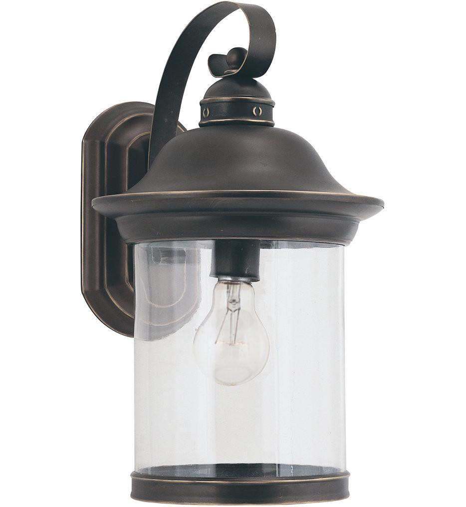 Sea Gull Lighting - Hermitage 15.25 Inch 1 Light Outdoor Wall Lantern
