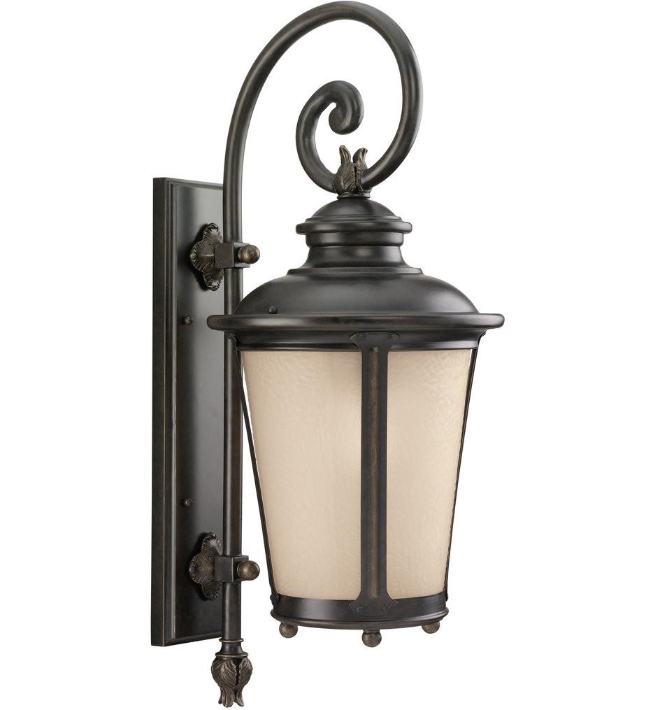 Sea Gull Lighting - Cape May Burled Iron 26.25 Inch 1 Light Outdoor Wall Lantern