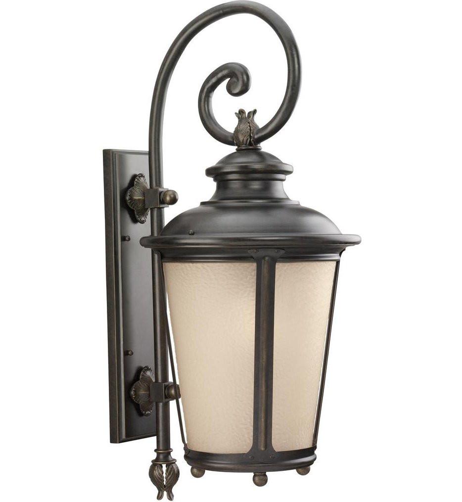 Sea Gull Lighting - Cape May Burled Iron 29.75 Inch 1 Light Outdoor Wall Lantern