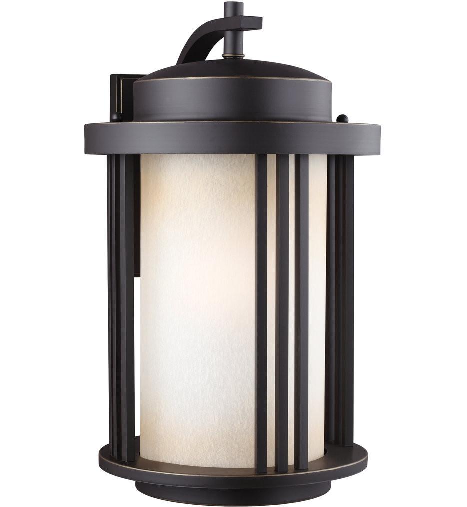 Sea Gull Lighting - 8847901EN3-71 - Crowell Antique Bronze 19.56 Inch 1 Light LED Energy Star Outdoor Wall Lantern