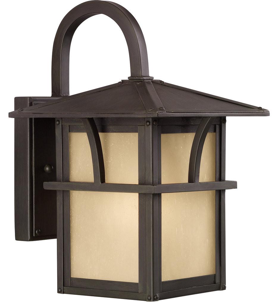 Sea Gull Lighting - Medford Lakes Statuary Bronze 11 Light 1 Light Outdoor Wall Lantern