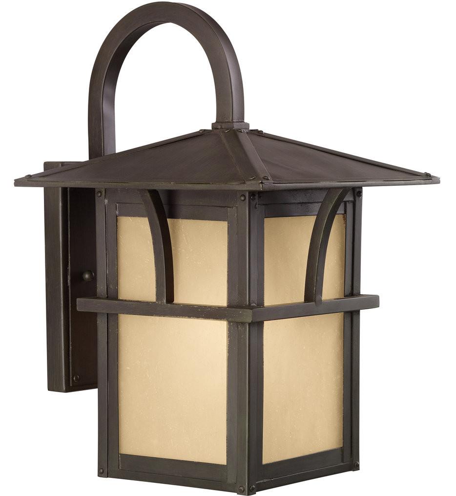Sea Gull Lighting - Medford Lakes Statuary Bronze 14.25 Light 1 Light Outdoor Wall Lantern