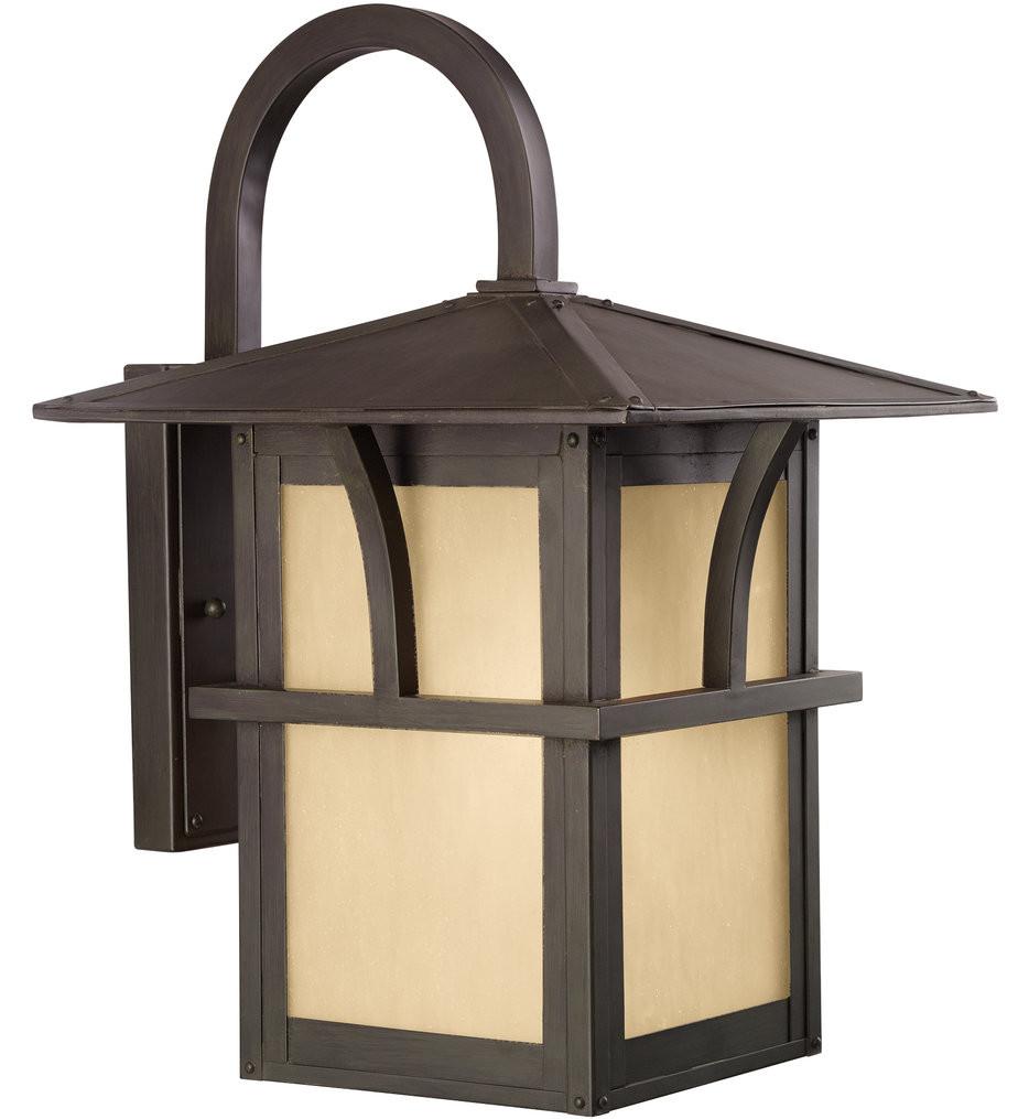 Sea Gull Lighting - Medford Lakes Statuary Bronze 17 Light 1 Light Outdoor Wall Lantern