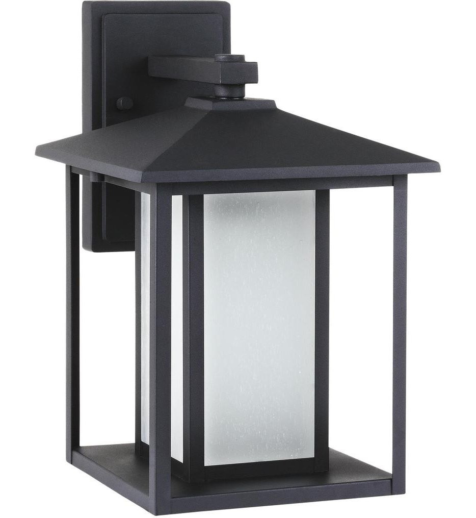 Sea Gull Lighting - 8903197S-12 - Hunnington Black 14 Inch 1 Light Outdoor Wall Lantern