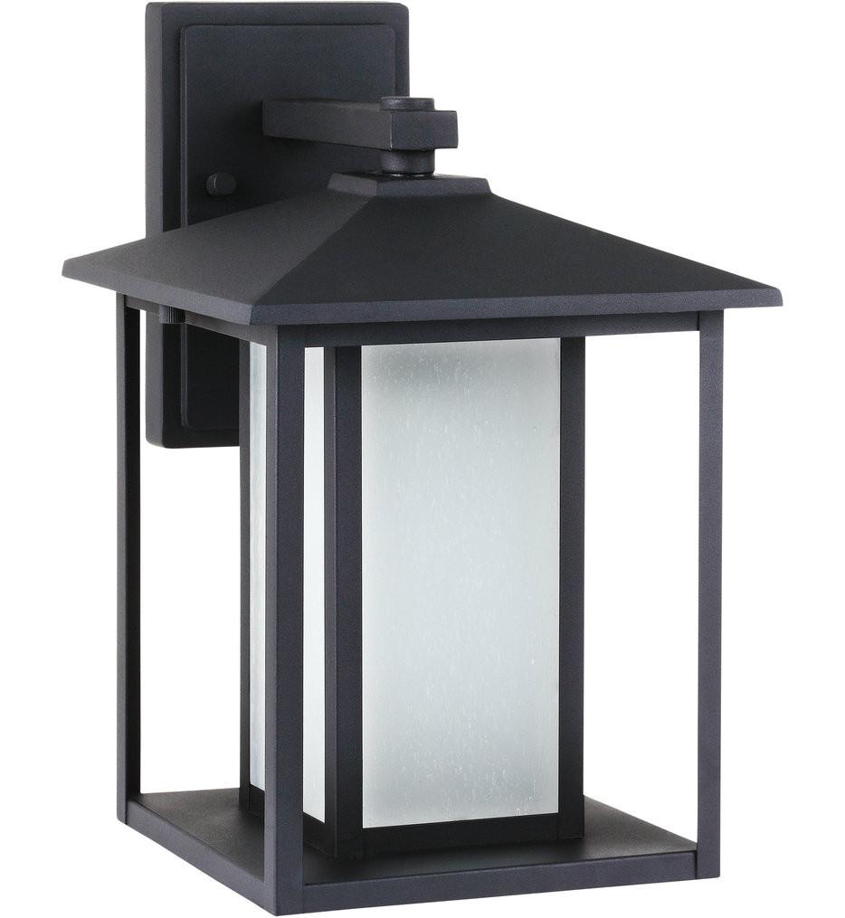 Sea Gull Lighting - 89031EN3-12 - Hunnington Black 14 Inch 1 Light LED Outdoor Wall Lantern