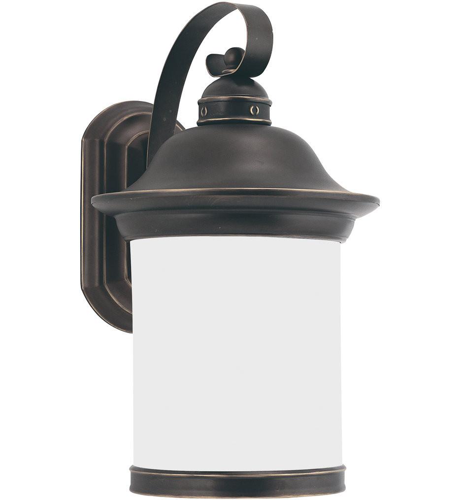 Sea Gull Lighting - 89192DEN3-71 - Hermitage Antique Bronze 15.25 Inch 1 Light LED Dark Sky/Energy Star Outdoor Wall Lantern