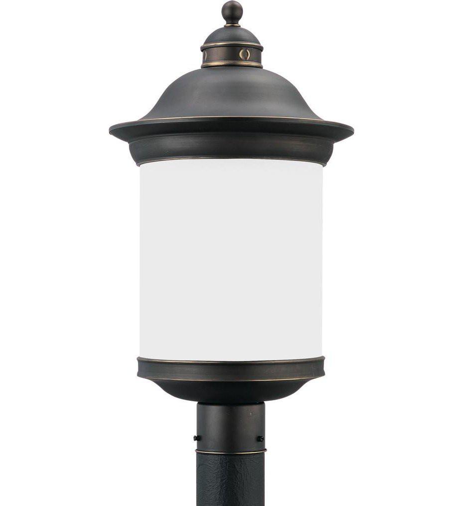 Sea Gull Lighting - 89298EN3-71 - Hermitage Antique Bronze 1 Light LED Outdoor Post Lantern