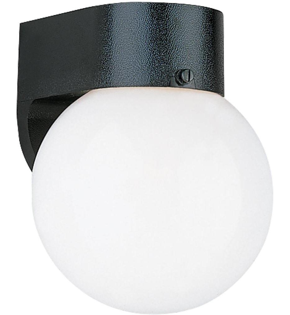 Sea Gull Lighting - 8955EN3-12 - Outdoor Wall Black 8 Inch 1 Light Outdoor Wall Lantern