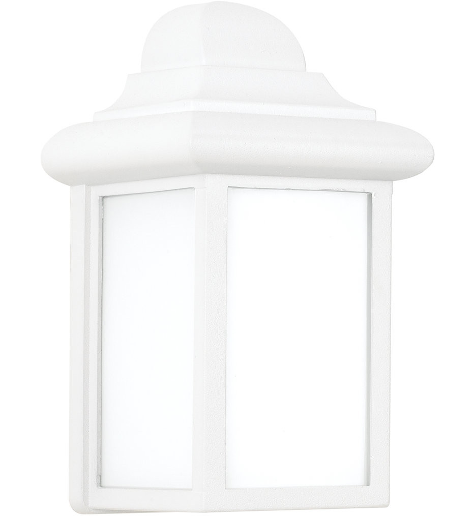 Sea Gull Lighting - 8788-15 - Mullberry Hill White 8.75 Inch 1 Light Outdoor Wall Lantern