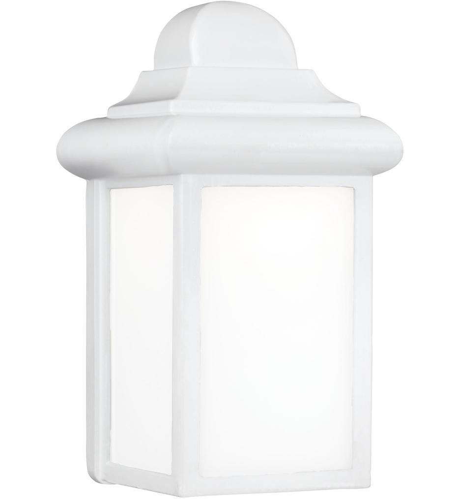 Sea Gull Lighting - 8988EN3-15 - Mullberry Hill White 8.75 Inch 1 Light Outdoor Wall Lantern