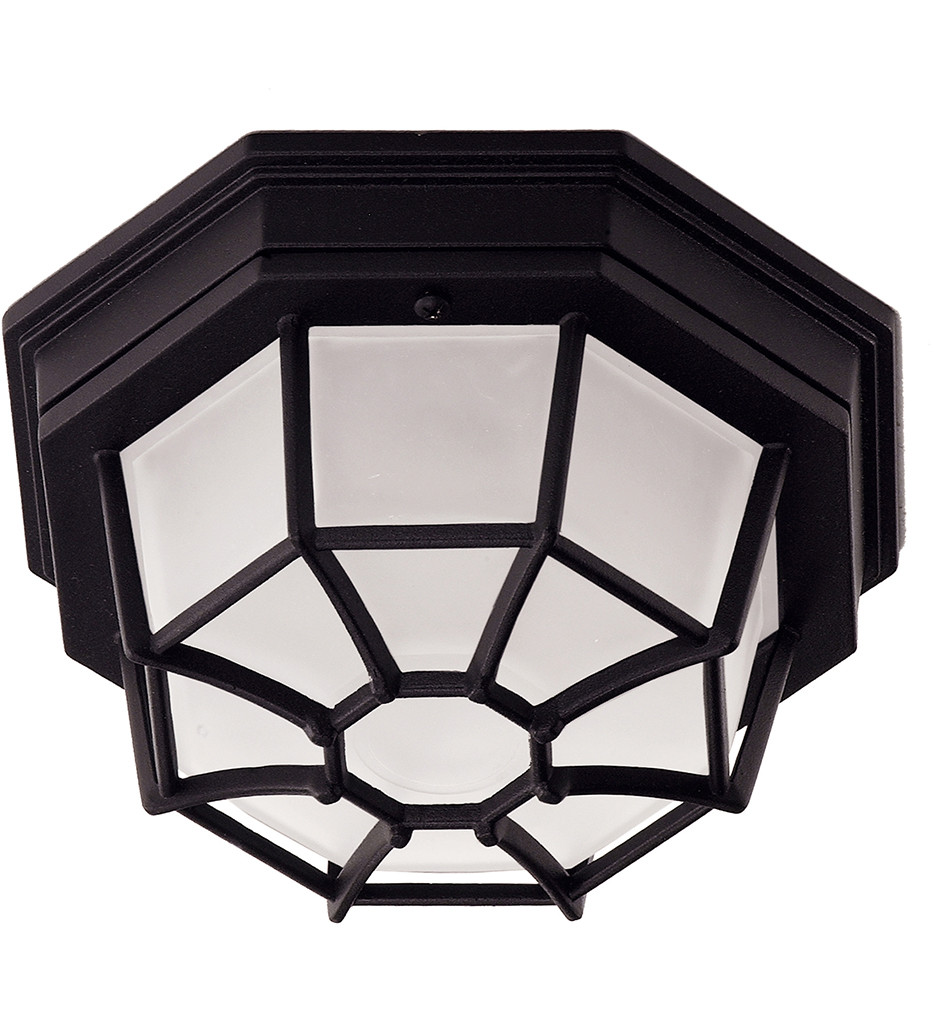 Savoy House - 07065-BLK - Exterior Collections Black 9 Inch Outdoor Flush Mount