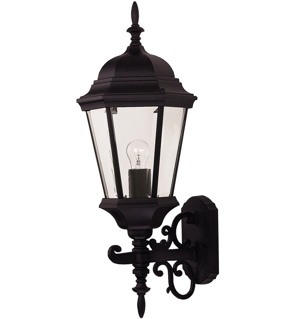 Savoy House - 07078-BLK - Exterior Collections Black 26 Inch Outdoor Sconce