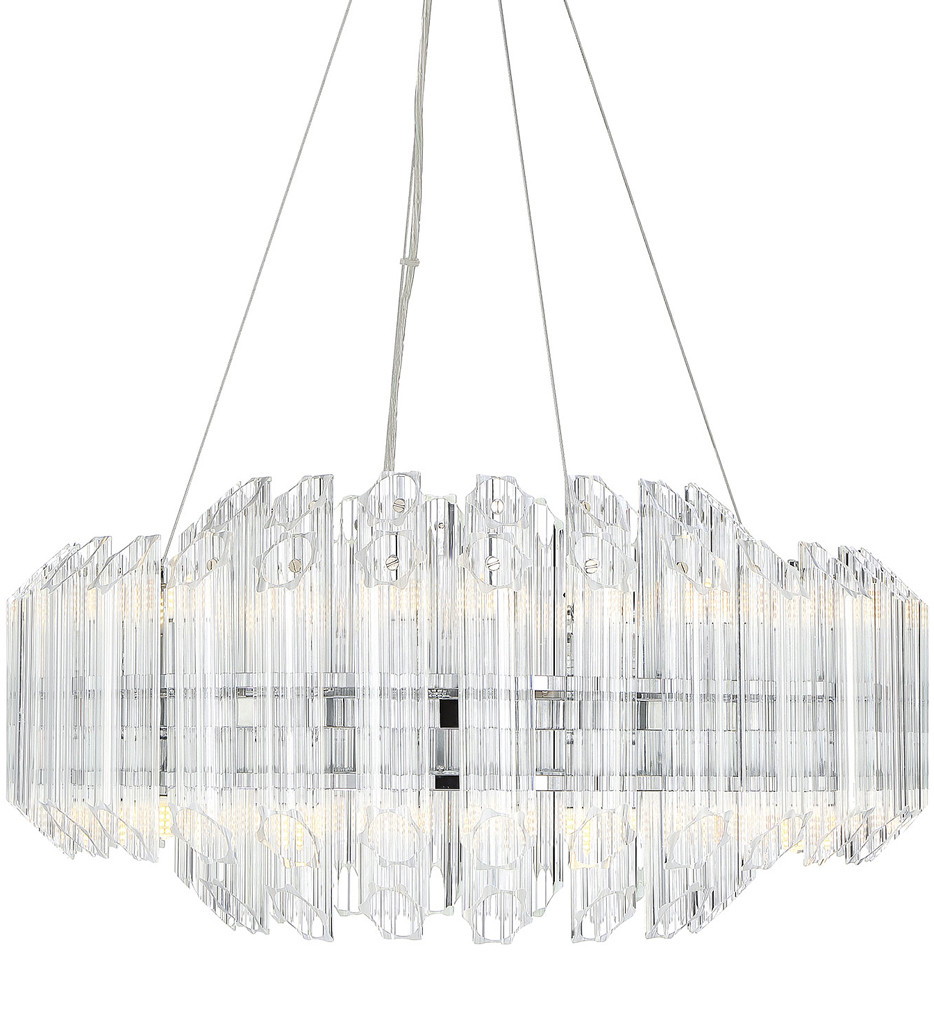 Savoy House - 1-0401-16-11 - Marquette Polished Chrome 16 Light Chandelier