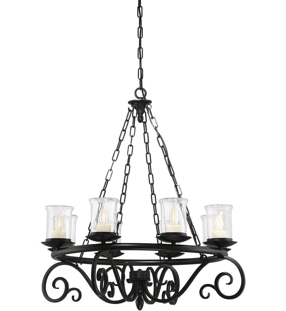 Savoy House - 1-1120-8-BK - Welch Black 8 Light Outdoor Chandelier