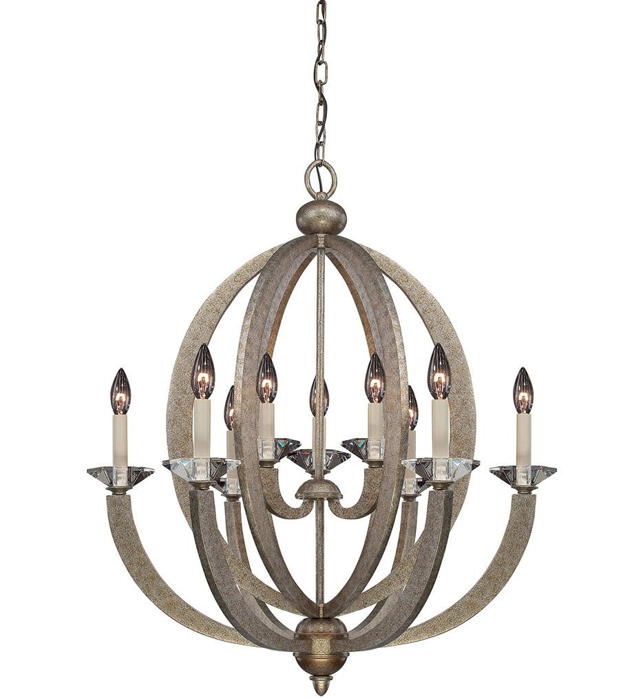 Savoy House - 1-1555-9-122 - Forum Gold Dust 9 Arm Chandelier