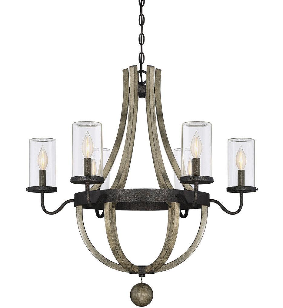 Savoy House - 1-2100-6-70 - Eden Weathervane 6 Light Outdoor Chandelier