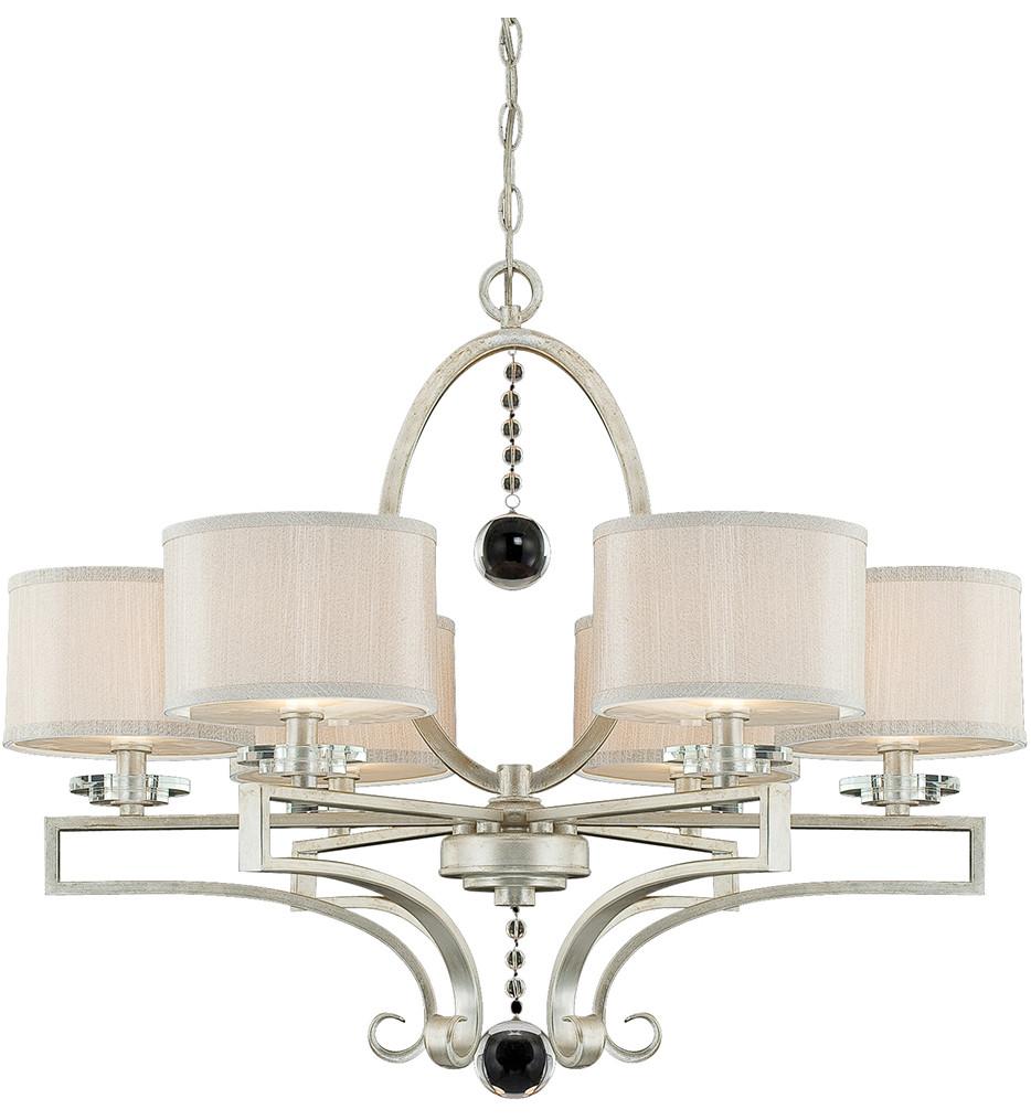 Savoy House - 1-250-6-307 - Rosendal Silver Sparkle 6 Arm Chandelier