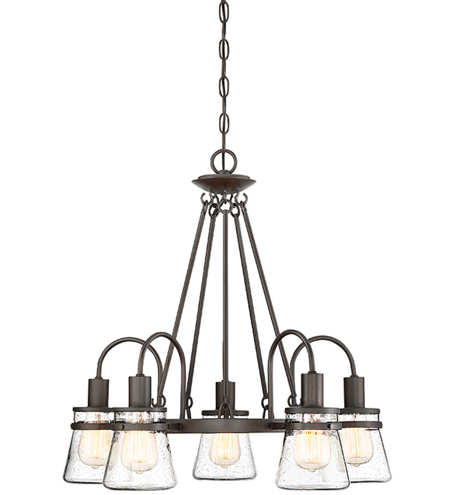 Savoy House - 1-3501-5-13 - Portsmouth English Bronze 5 Light Outdoor Chandelier