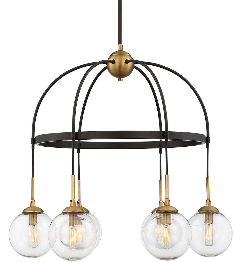 Savoy House - 1-5002-6-79 - Fulton English Bronze & Warm Brass 6 Light Chandelier