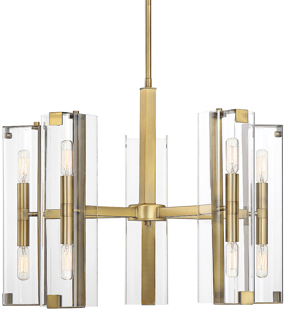 Savoy House - 1-9772-10-322 - Winfield Warm Brass 10 Light Chandelier