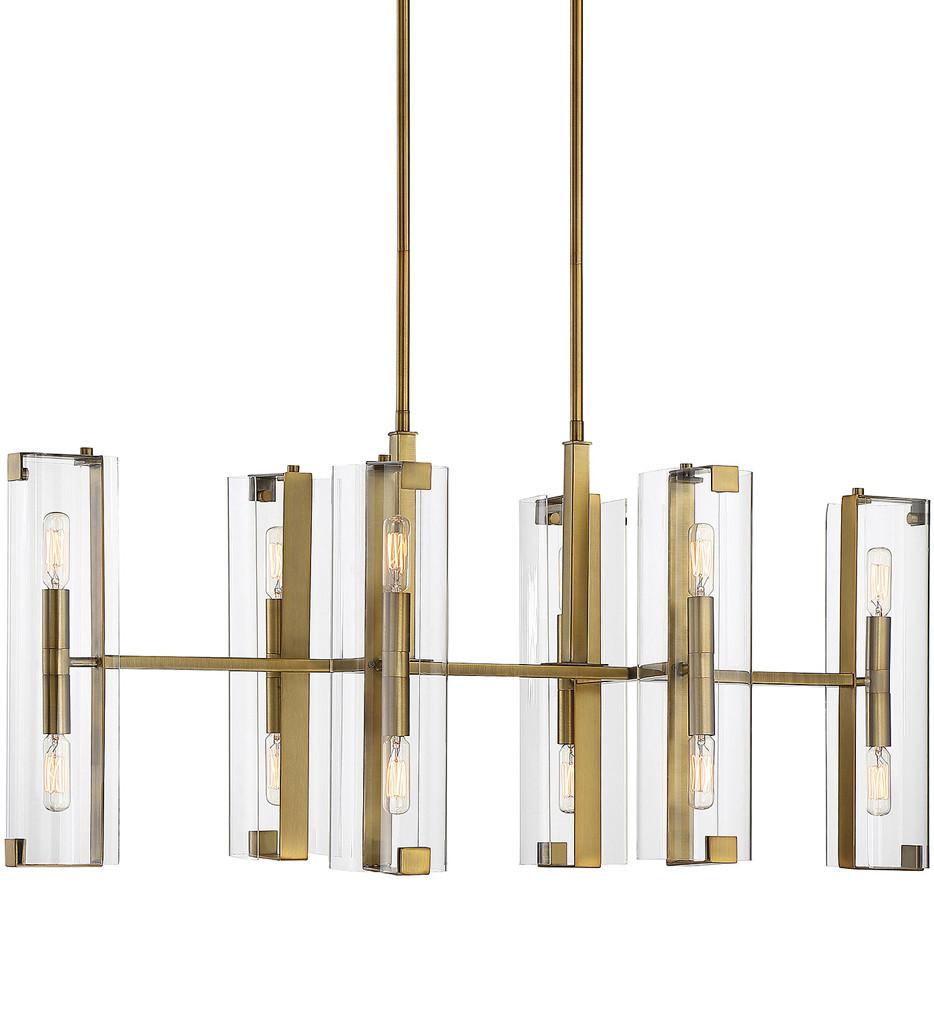 Savoy House - 1-9773-12-322 - Winfield Warm Brass 12 Light Chandelier