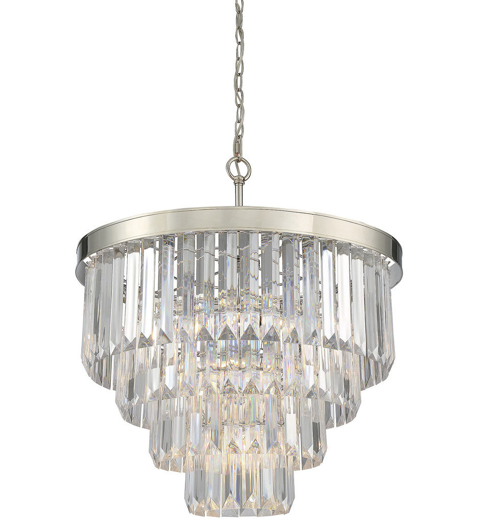 Savoy House - 1-9800-6-109 - Tierney Polished Nickel 6 Light Chandelier
