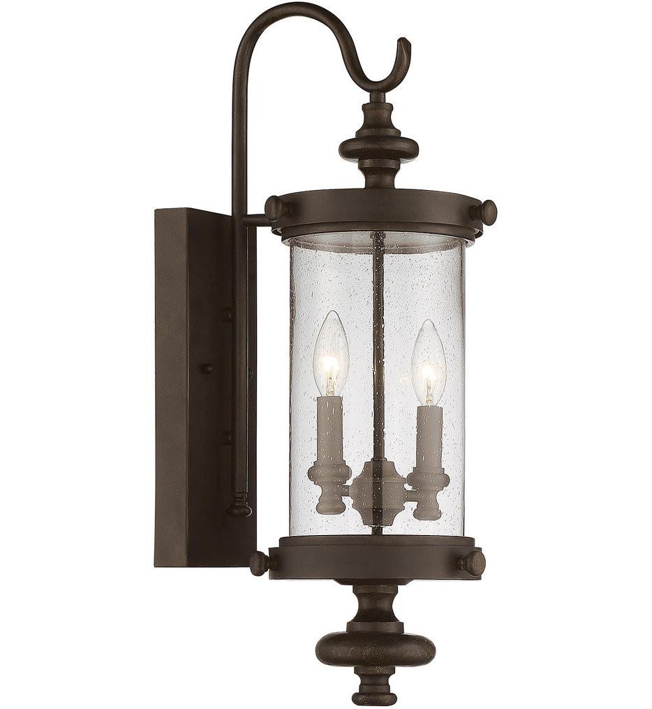 Savoy House - 5-1220-40 - Palmer Walnut Patina 2 Light Outdoor Wall Lantern