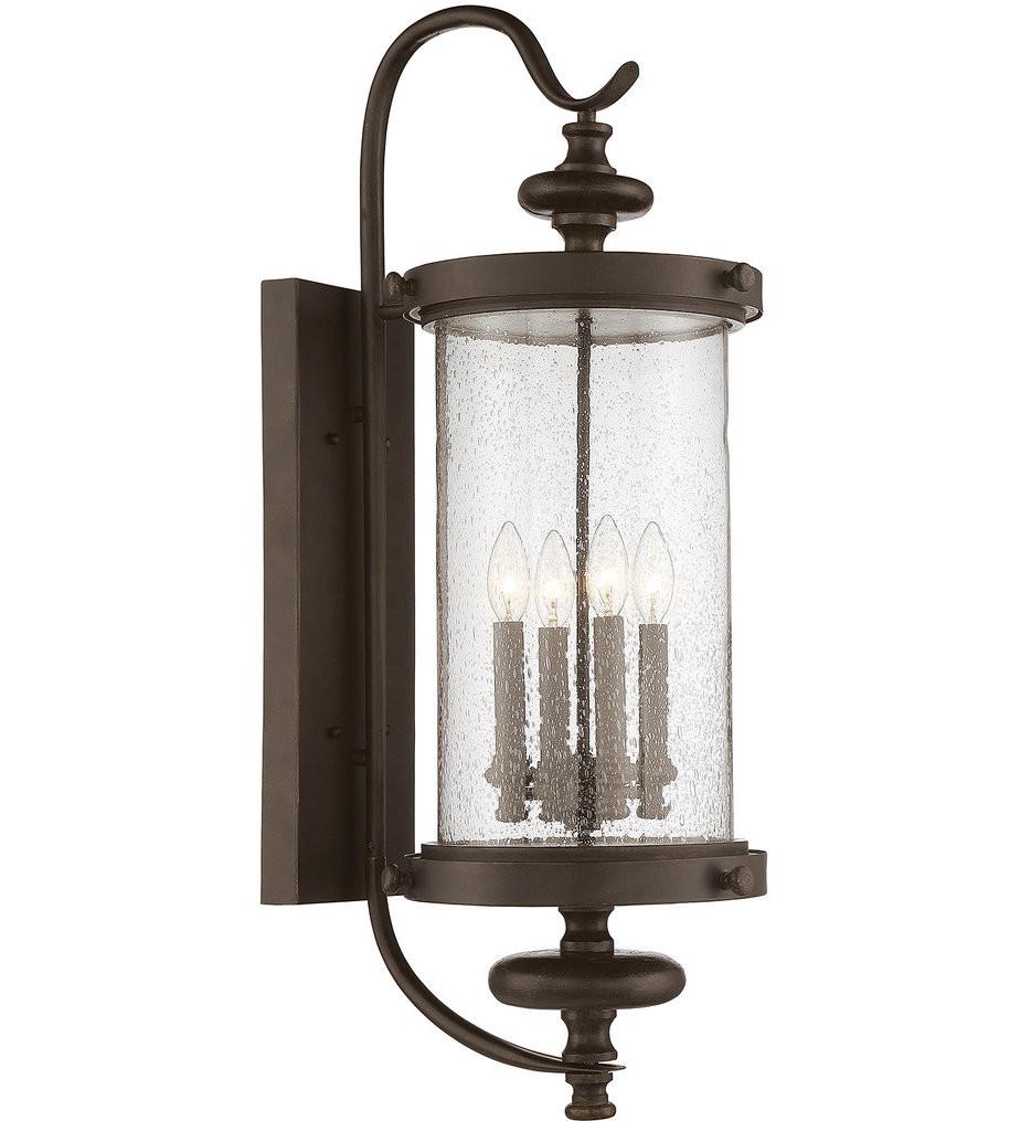 Savoy House - 5-1224-40 - Palmer Walnut Patina 4 Light Outdoor Wall Lantern