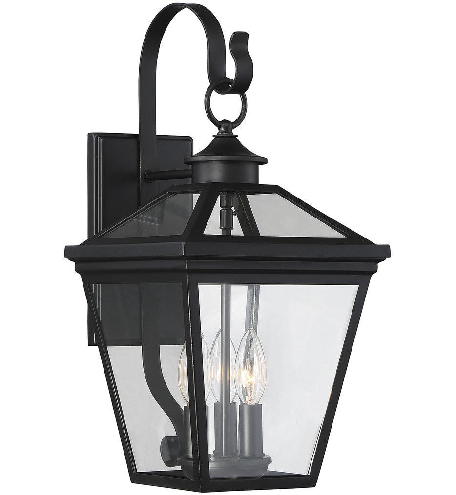 Savoy House - 5-141-BK - Ellijay Black 9 Inch Outdoor Wall Lantern