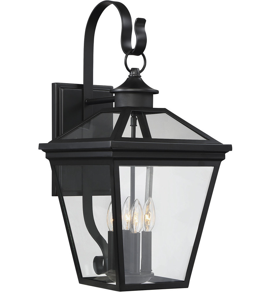 Savoy House - 5-142-BK - Ellijay Black 12 Inch Outdoor Wall Lantern