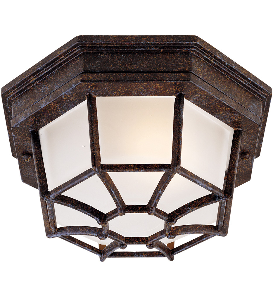 Savoy House - 5-2066-72 - Exterior Collections Rustic Bronze 9 Inch Outdoor Flush Mount