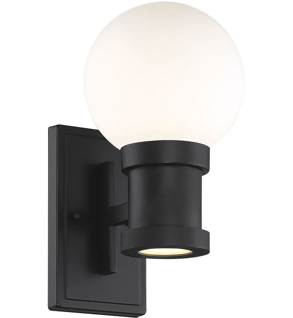 Savoy House - 5-22000-BK - Marion Black 12.25 Inch Outdoor Wall Sconce