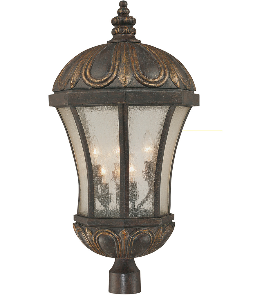 Savoy House - 5-2504-306 - Ponce de Leon Old Tuscan 14 Inch Outdoor Post Light