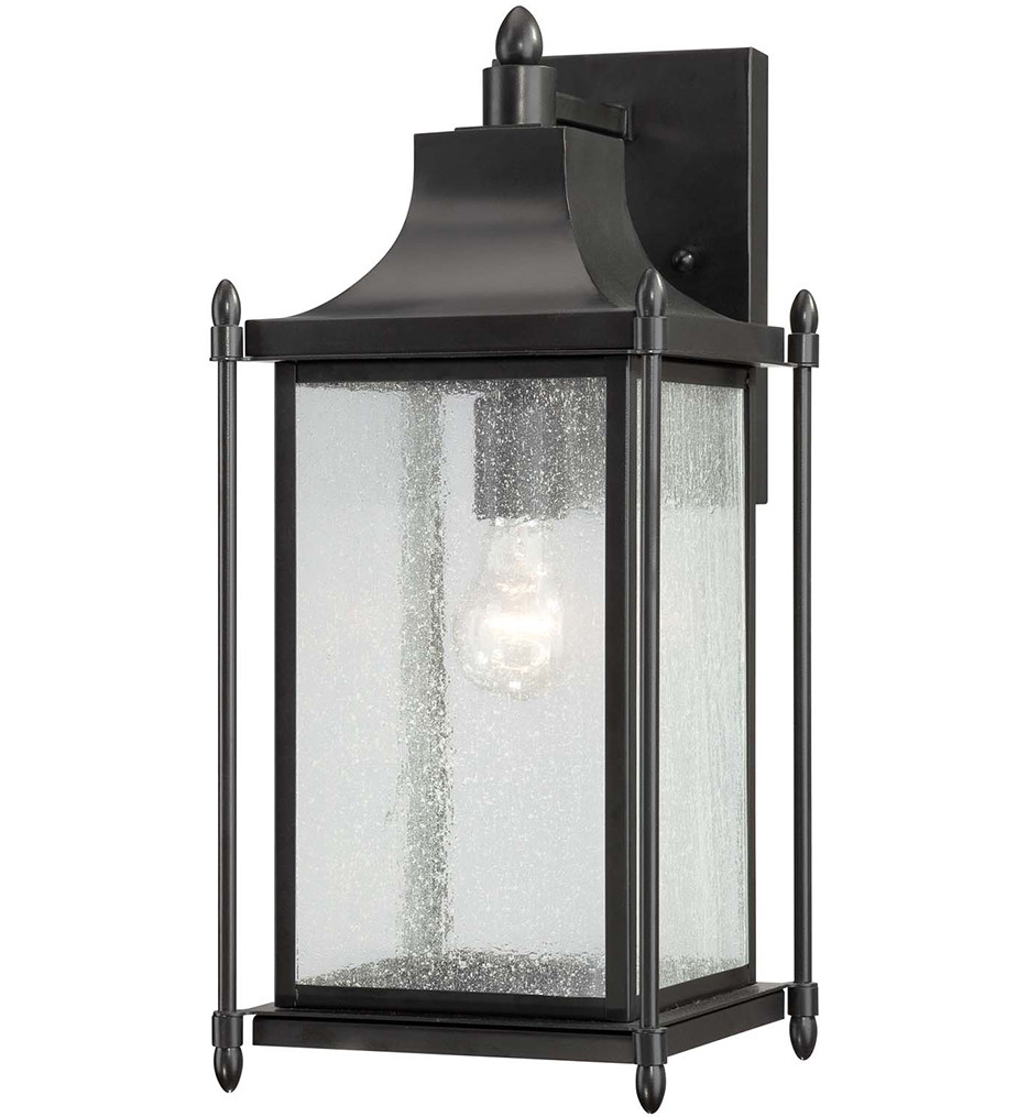 Savoy House - 5-3452-BK - Dunnmore Black 18 Inch Outdoor Sconce