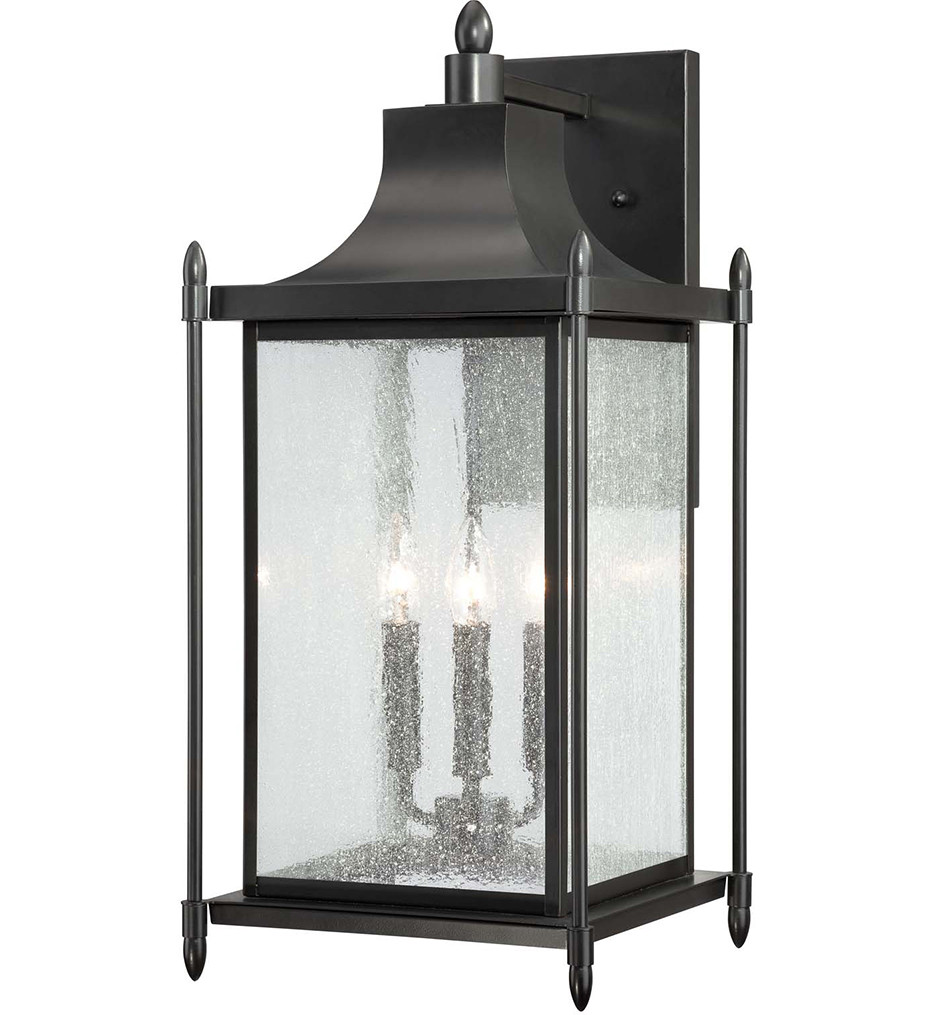 Savoy House - 5-3453-BK - Dunnmore Black 23.5 Inch Outdoor Sconce