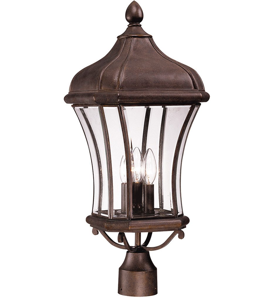 Savoy House - 5-3805-40 - Realto Walnut Patina 10 Inch Outdoor Post Light