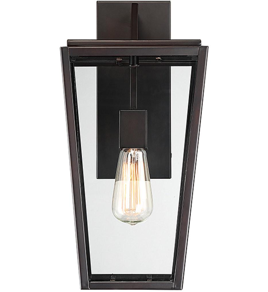 Savoy House - 5-547-13 - Milton English Bronze 16.5 Inch 1 Light Outdoor Wall Lantern