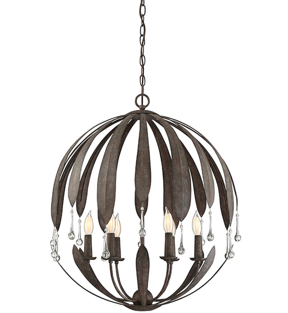 Savoy House - 7-4442-6-64 - Sussex Fieldstone 6 Light Chandelier