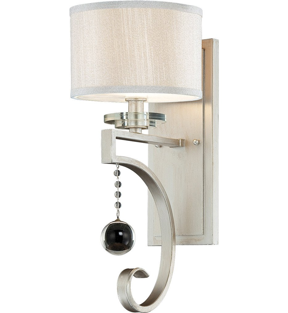 Savoy House - 9-256-1-307 - Rosendal Silver Sparkle 7.25 Inch Wall Sconce