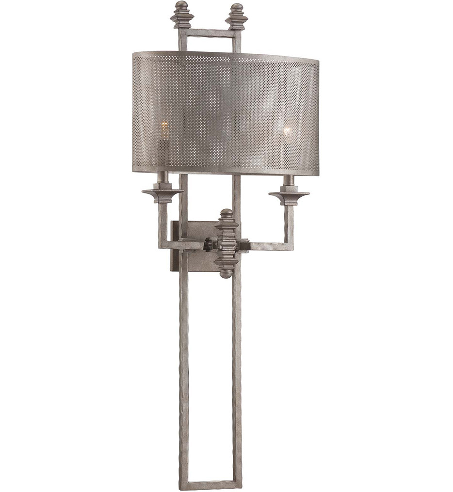 Savoy House - 9-4304-2-242 - Structure Aged Steel 15.5 Inch Wall Sconce