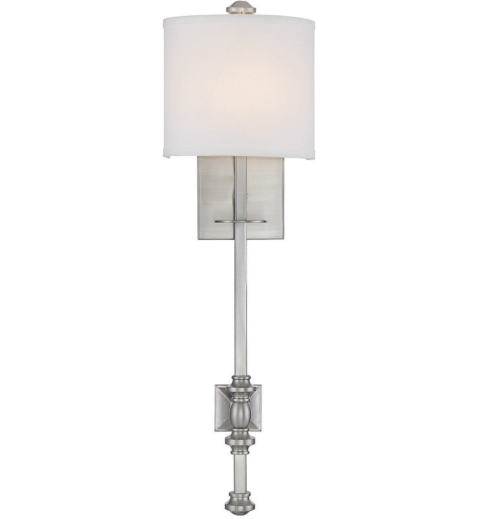 Savoy House - 9-7140-1-SN - Devon Satin Nickel 1 Light Wall Sconce