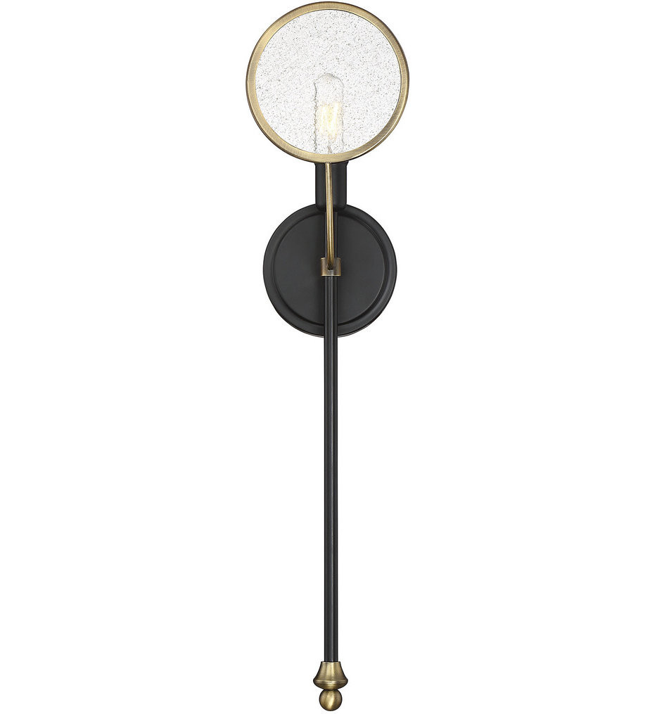 Savoy House - 9-9157-1-51 - Oberyn Vintage Black with Warm Brass 1 Light Wall Sconce