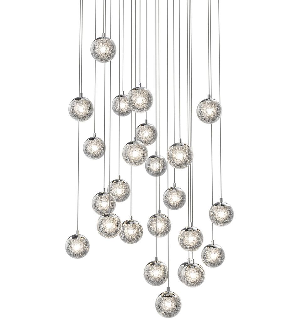 Sonneman - 2966.01 - Champagne Bubbles Polished Chrome 24 Light Pendant