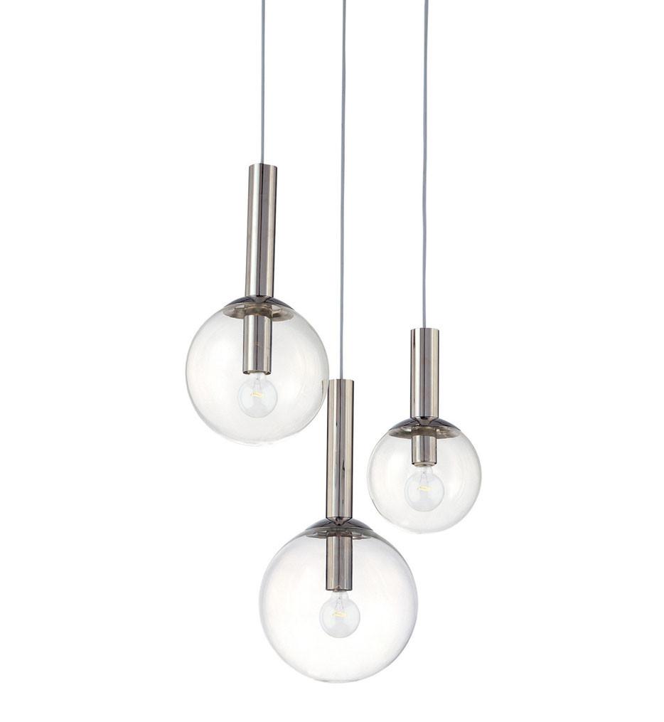 Sonneman 3763.35 Polished Nickel Bubbles 3 Light Pendant