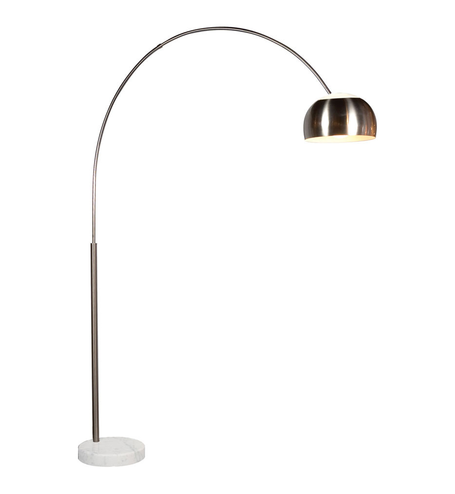 Sonneman 4096.13G Satin Nickel Arc Floor Lamp