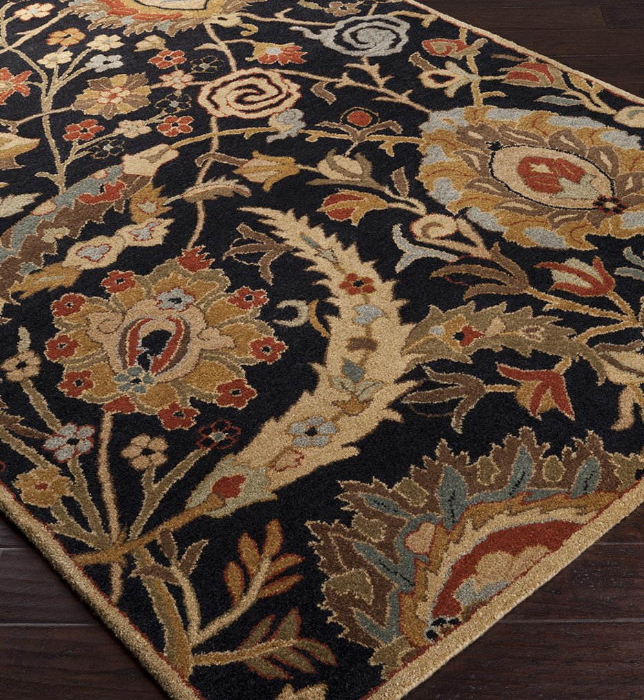 Surya - Ancient Treasures Charcoal Traditional Hand Tufted Rug