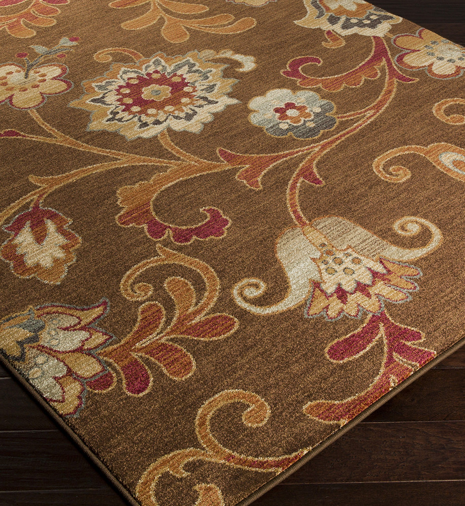 Surya - Arabesque Large Print Floral and Paisley Rug
