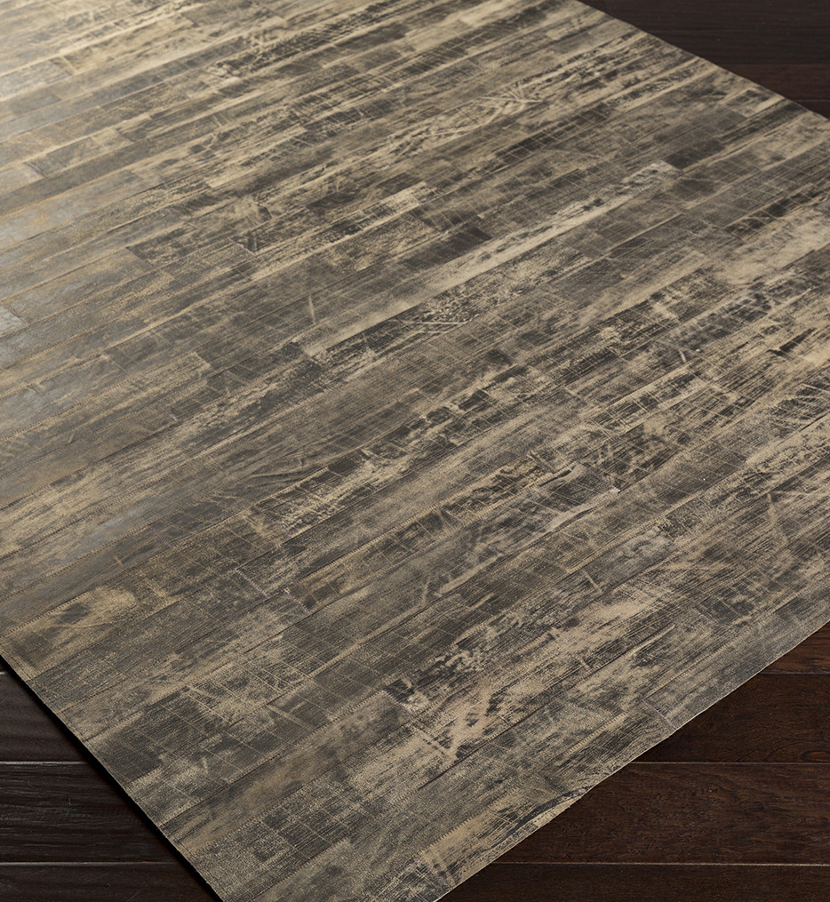 Surya - Appalachian Taupe Hides and Leather Hand Crafted Rug