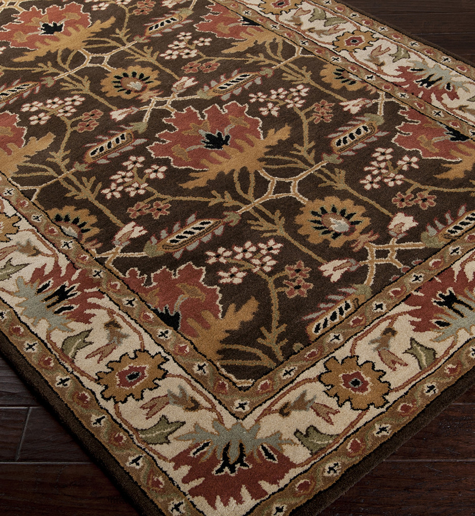 Surya - Aurora Traditional Floral and Paisley Hand Tufted Rug